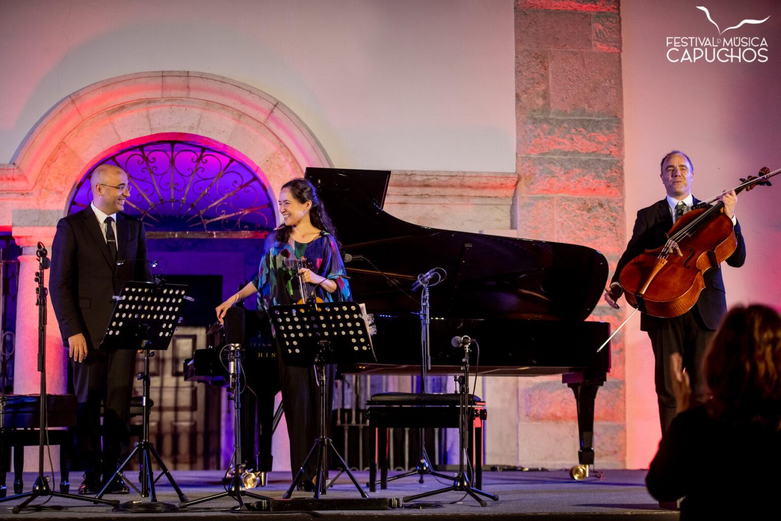 FESTIVAL DOS CAPUCHOS - SCHBERTÍADA 1 - HOMENAGEM A ALFRED BRENDEL - Viviane Hagner - violino; Adrian Brendel - Violoncelo;  Filipe Pinto-Ribeiro - piano